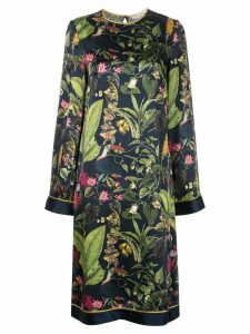 Oscar de la Renta Botanical print midi dress - Blue