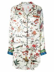 Oscar de la Renta printed shirt dress - White