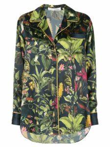 Oscar de la Renta Botanical print shirt - Blue