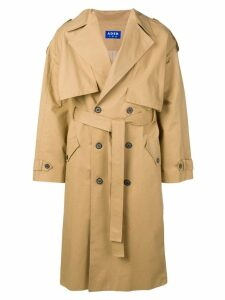 Ader Error oversized trench coat - Neutrals