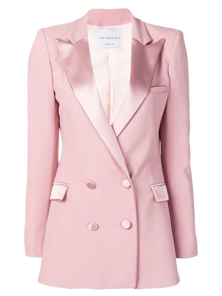 Hebe Studio double-breasted fitted blazer - Pink