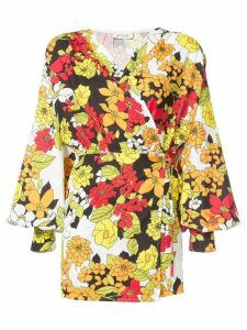 Attico floral print short dress - Multicolour