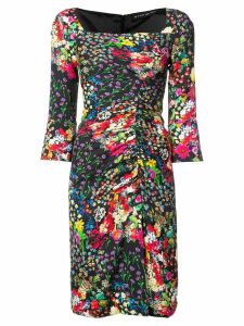 Etro floral ruched dress - Black