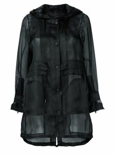 Herno sheer button up coat - Black