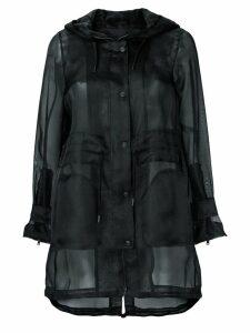 Herno sheer button up coat - Black