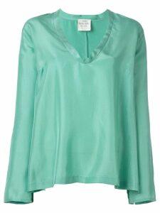 Forte Forte bell sleeve flared blouse - Blue