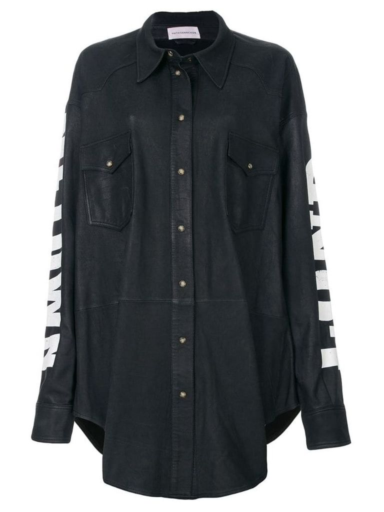 Faith Connexion sleeve print shirt - Grey