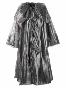 Noir metallic oversized coat - Silver
