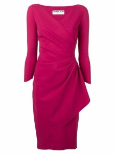 Le Petite Robe Di Chiara Boni knotted waist dress - Red