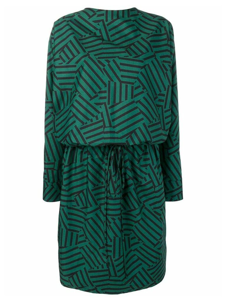 Plan C geometric printed dress - Green