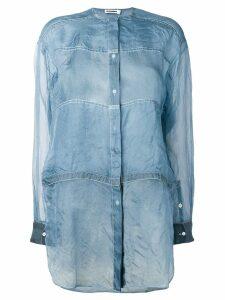 Jil Sander lightweight see-through shirt - Blue