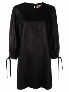 Saint Laurent tie sleeve shift dress - Black