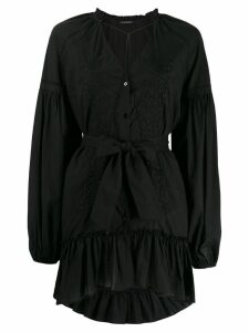 Wandering embroidered dress - Black