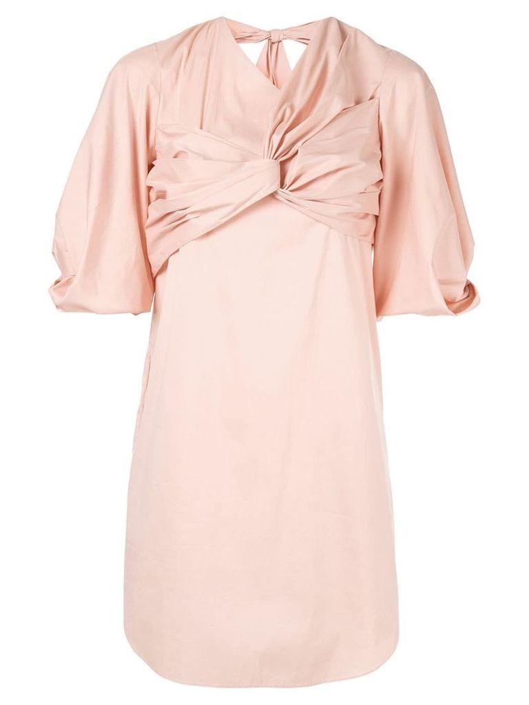 Portspure knot detailed mini dress - Pink