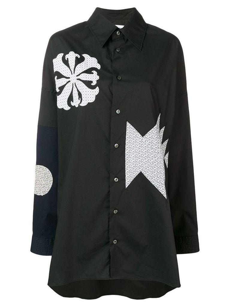 AMBUSH patchwork shirt - Black