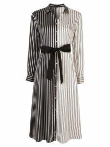 Loveless colour block striped shirt dress - Multicolour