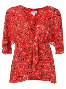 Jovonna paisley print blouse - Red