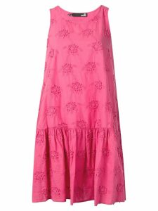Love Moschino embroidered floral mini dress - Pink