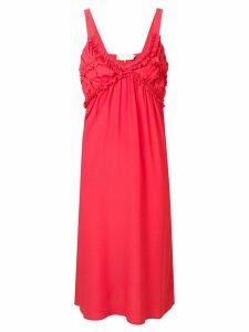 L'Autre Chose ruffled midi dress - Red
