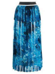 Victoria Victoria Beckham green landscape skirt - Blue