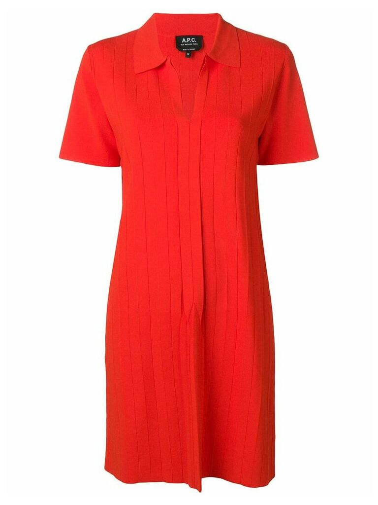 A.P.C. ribbed knit dress - Red