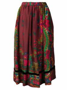 Comme Des Garçons Girl printed A-line skirt - Red