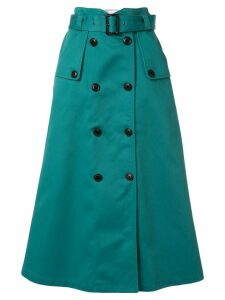 Loveless A-line midi skirt - Green