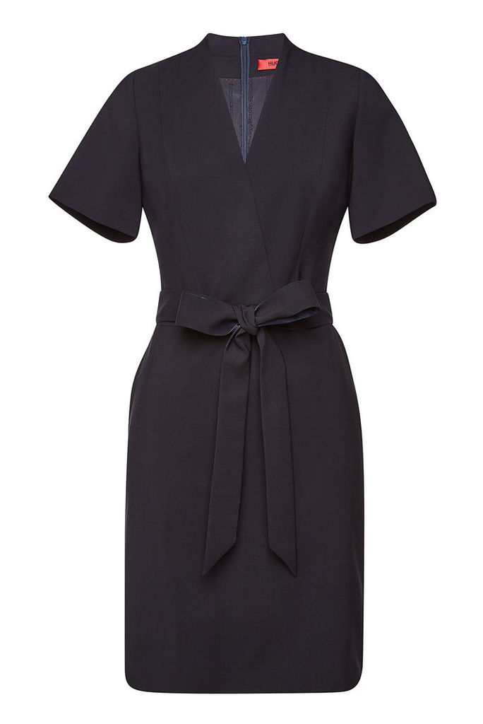 Hugo Kalanka Virgin Wool Dress