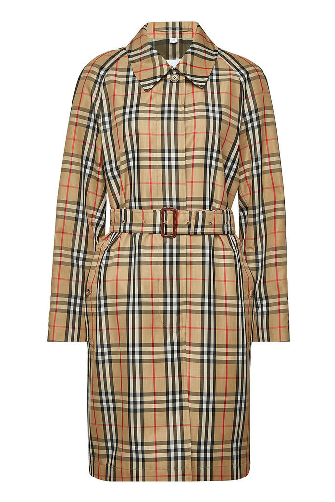 Burberry Kempton Checked Trench Coat