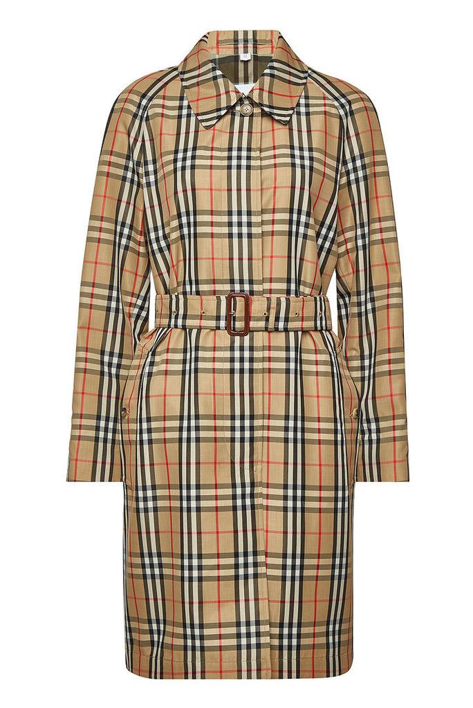 Burberry Kempton Checked Trench Coat