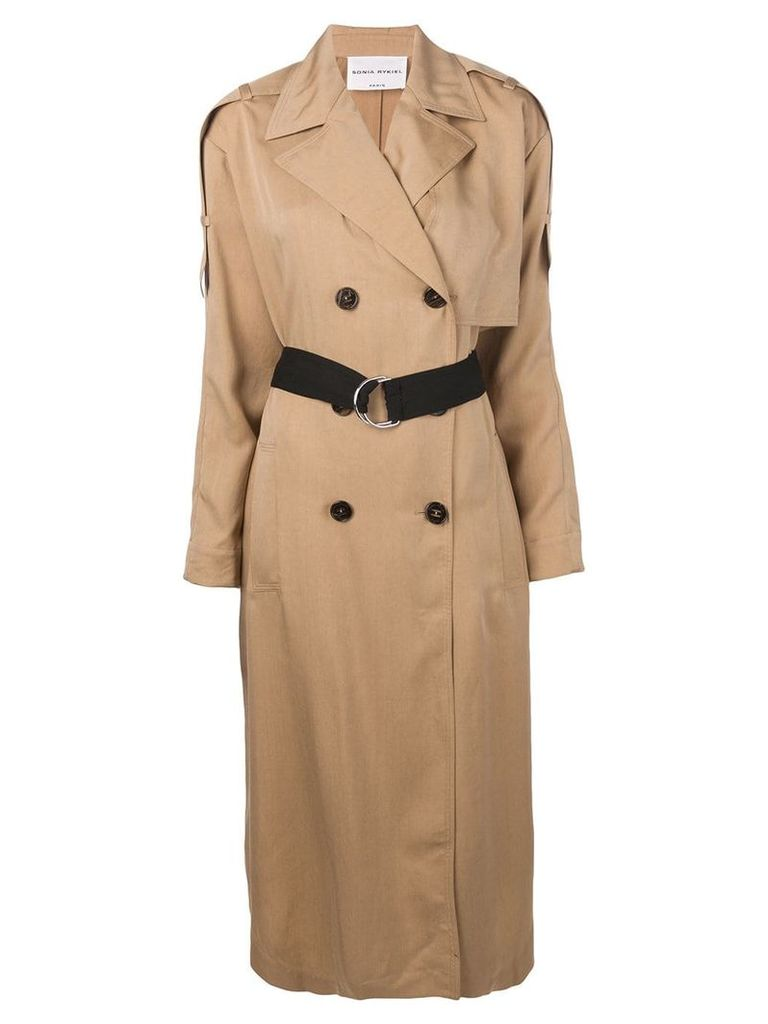Sonia Rykiel belted trench coat - Neutrals