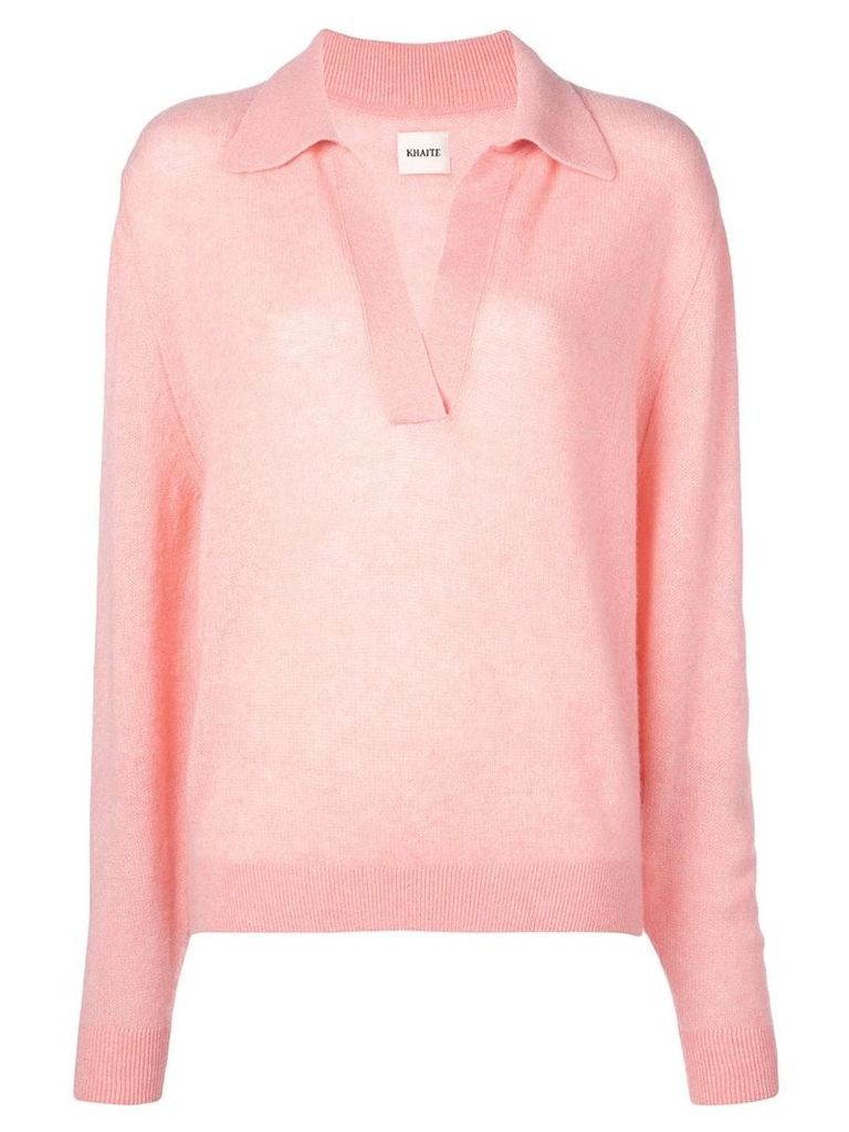 Khaite v-neck jumper - Pink