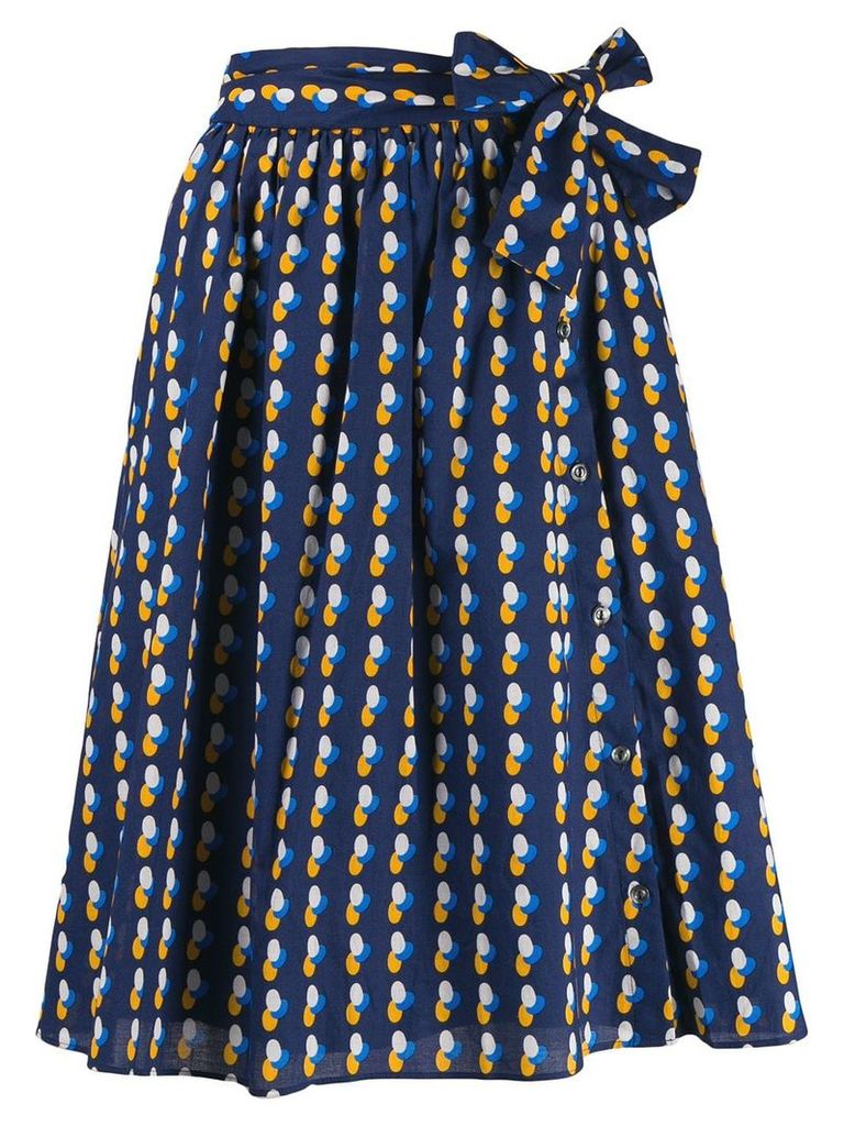 A.P.C. printed skirt - Blue
