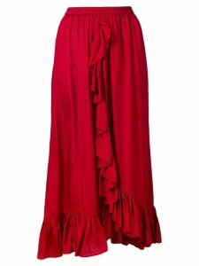 Mes Demoiselles draped ruffle skirt - Red