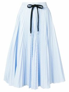 Red Valentino striped pleated skirt - Blue
