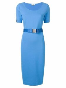 Fendi belted pencil dress - Blue