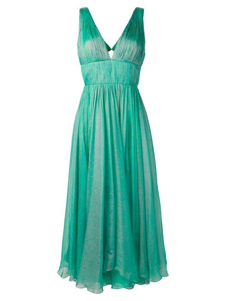 Maria Lucia Hohan empire line pleated dress - Green