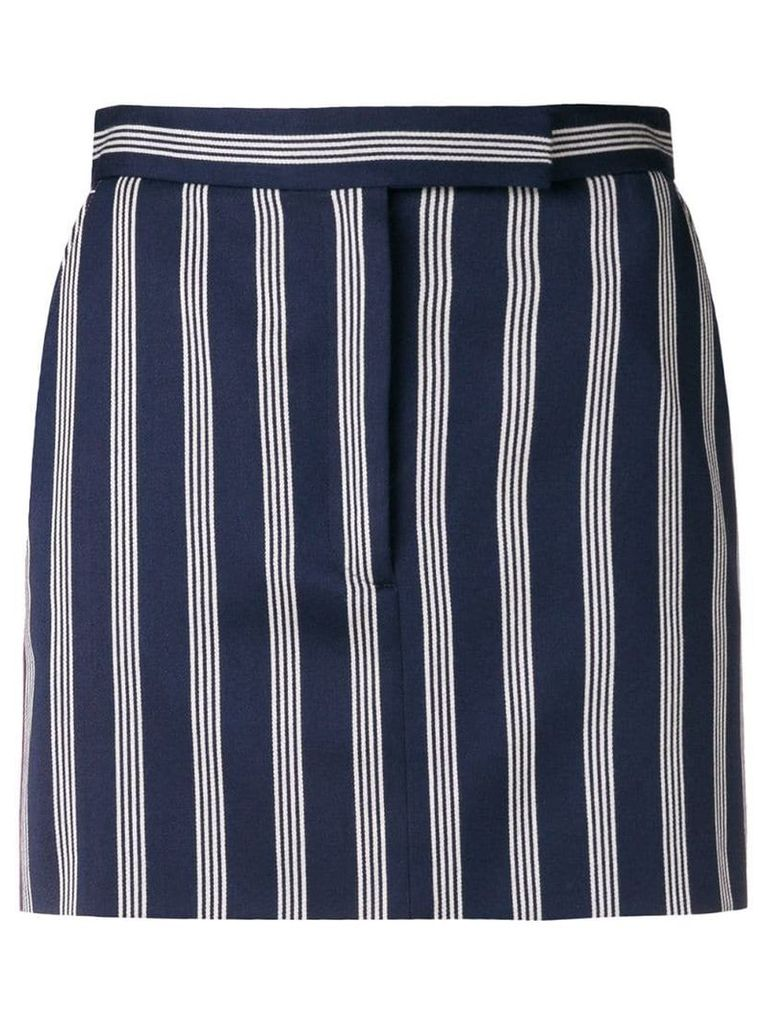 Thom Browne 4-Bar Repp Stripe Miniskirt - Blue