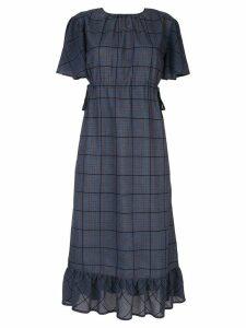 Guild Prime hybrid check midi dress - Blue