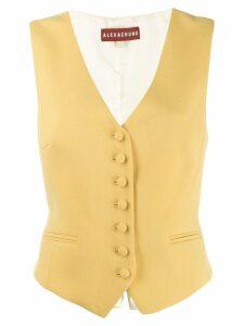 Alexa Chung classic waistcoat - Yellow