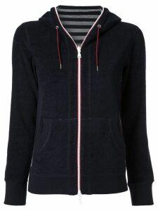 Loveless zipped fleece hoodie - Blue