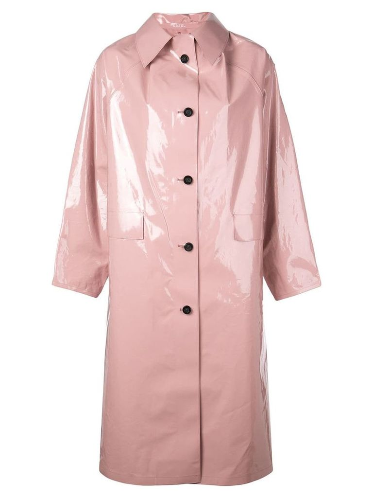 Kassl oversized long trench coat - Pink