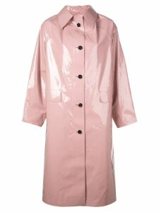 Kassl Editions oversized long trench coat - Pink