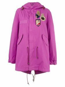 Mr & Mrs Italy Bouganville patched mid parka - Pink