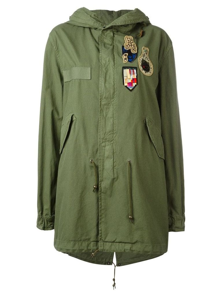 Mr & Mrs Italy multi-patch parka - Green