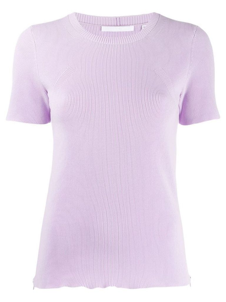 Helmut Lang ribbed T-shirt - Purple