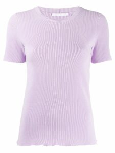 Helmut Lang ribbed T-shirt - Purple
