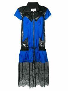 Maison Margiela two tone deconstructed dress - Blue