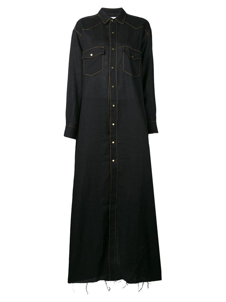 Marques'Almeida full length dress - Black