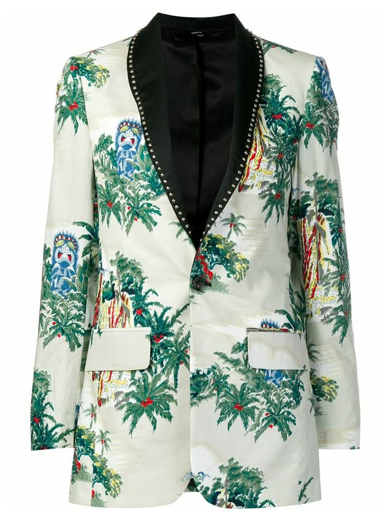 R13 tropical pattern blazer - Neutrals